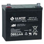 BB Battery MPL55-12 Long Life High Power Cyclic Battery 12V 55AH