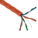Cable Cat 5E Orange 1000 Ft Roll