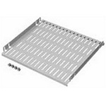 """Hoffman A19SH8 Steel Shelf 19"""" Rack 17x27 Light Gray Vented"""