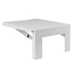 Hoffman AASHLF1818 Steel Folding Shelf 18x18 White