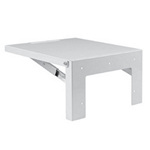 Hoffman AASHLF2424 Steel Folding Shelf 24x24 White