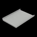 "Hoffman P19SH5 Steel Shelf 19"" Rack 18x13 Light Gray Vented"