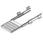 "Hoffman P23PSH6 Sliding Steel Shelf 23"" Rack 19x18 Light Gray Vented"