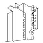 Hoffman PBRAA PROLINE Rack Angle Adapter Bracket