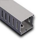 """Iboco T1E1522G Wire Duct Gray Narrow Finger 1.5""""W x 2.25""""H"""