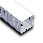 """Iboco T1E2222W Wire Duct White Narrow Finger 2.25""""W x 2.25""""H"""