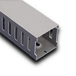 """Iboco T1E4040G Wire Duct Gray Narrow Finger 4""""W x 4""""H"""