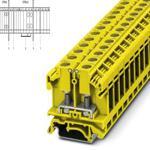 Phoenix 0790620 yellow Bolt connection Terminal Block