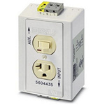 Phoenix Contact 5604435 Double Switch/Outlet 125V 20A White