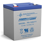 PowerSonic Battery PS1250F1 General Purpose Battery 12V 5AH