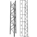 Rohn Tower RSL50H60 Extra Heavy Duty Dish Loading 50 Ft Tower