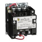 Schneider Electric 8502SAO12V02S NEMA Contactor, Type S, nonreversing, Size 00, 9A, 3 pole, 110/120 VAC 50/60 Hz coil, open style