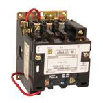 Schneider Electric 8502SAO12V03 NEMA Contactor, Type S, nonreversing, Size 00, 9A, 3 pole, 220/240 VAC 50/60 Hz coil, open style