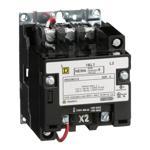 Schneider Electric 8502SBO1V02S NEMA Contactor, Type S, nonreversing, Size 0, 18A, 2 pole, 110/120 VAC 50/60 Hz coil, open style