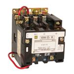 Schneider Electric 8502SBO1V08 NEMA Contactor, Type S, nonreversing, Size 0, 18A, 2 pole, 208 VAC 60 Hz coil, open style