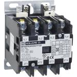 Schneider Electric 8910DPA34V02U1Y122 Contactor, Definite Purpose, 30A, 4 pole, 20 HP at 575 VAC, 3 Phase, 110/120 VAC 50/60 Hz coil, open, UL Listed