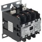 Schneider Electric 8910DPA34V04U1 Contactor, Definite Purpose, 30A, 4 pole, 20 HP at 575 VAC, 3 Phase, 277 VAC 60 Hz coil, open, UL Listed