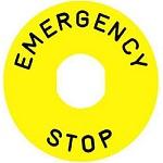 Schneider Electric ZBY9330 Emergency Stop Legend Plate