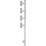 Wavelink PRO ex403-10-Q-0-N1 Dipole Antenna 403-470 MHz