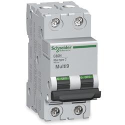 240//480V Nader UL 1077 Supplemental Protection ASI NDB5-J425-2P DIN Rail Mount Circuit Breaker 25 amp 2 Pole